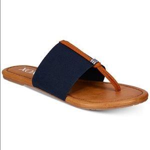 Ganelo Thong Flat Sandals- Navy Blue